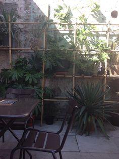 Bamboe tuinrek
