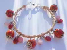 Leather Charm Bracelet via Hippychick Creations. Click on the image to see more!