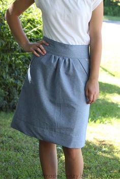 Handmade Frenzy: Anthropologie Inspired Skirt - DIY How-To http://handmadefrenzy.blogspot.com/2013/06/anthropologie-inspired-skirt-diy-how-to.html