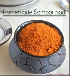 Sambar-powder-recipe-homemade Masala Powder Recipe, Masala Sauce, Masala Recipe, Garam Masala, Chaat Masala, Biryani Recipe, Homemade Spice Blends, Homemade Spices, Homemade Seasonings