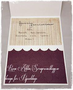 Dopkort med ugglor -a christening card made by DT-Rosa. http://pysseldags.se
