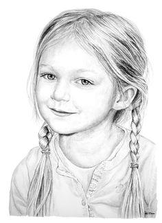 Pin van diana m op tekenen in 2019 - drawings, pencil drawin Pencil Drawings Of Girls, Art Drawings Sketches, Pencil Portrait, Portrait Art, Children Sketch, Face Sketch, Realistic Drawings, Drawing Techniques, Art Sketchbook