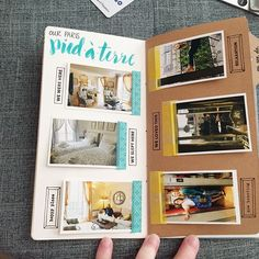 WEBSTA @ dneilg - Paris travel notebook coming together. Love these little picture flaps with journaling behind. #travelersnotebook