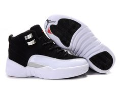 Cheap air jordan 12 shoes black and white at $36 for each. This pair of shoes are sold well in the market 5-7 working days to delivery They come with the original tags and box!