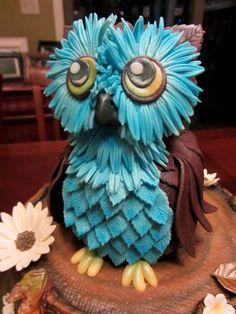 cakesandcookiescupcakewrappersFondant Owl Cake Topper Owl Cake birthday party girl boys kids kid chil children Owls Owl hibou gateau