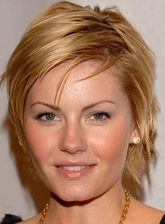Short Hairstyle for Round Face