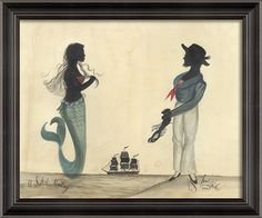 LH Sailor and Mermaid...uettes - Spicher and Company - $280.00-Pinned by #conceptcandieinteriors #girly