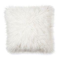 Mongolian Fur Decorative Pillow - Cream (Square) - Xhilaration™