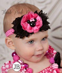 Baby Headband baby headbands Mickey minnie by ThinkPinkBows, $8.95