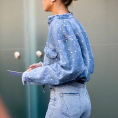 Double dotted denim