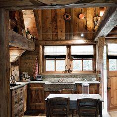 #rustic #cabin #kitchen