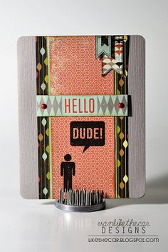 June 2013 Like the Car: Simon Says Stamp June Card Kit - Masculine Cards