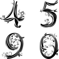 pretty number font 2