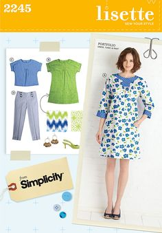 So, I understand that Simplicity 2245, the Lisette Portfolio dress designed by Liesl Gibson, is kind of a thing. After the pattern had been taken out of print, it caught fire on Pinterest and copies g