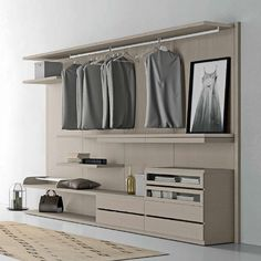 Ultramodern Italian Design 'Project' Walk-in Cabin Wardrobe. If you want to feel like Carrie Bradshaw from Sex and the City, this is the item for you! Classy, elegant and luxury materials.
