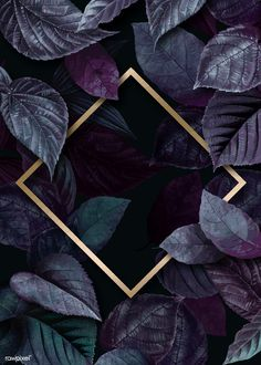 Rhombus frame on a leafy background vector | premium image by rawpixel.com / eyeeyeview