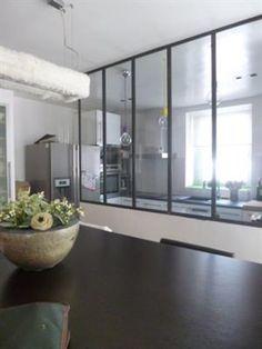 Verri re d 39 int rieur atelier d 39 artiste cloison vitr e en for Cuisine verriere atelier
