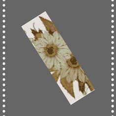 Peyote beading pattern Flowers#3 for bead bracelet, peyote stitch patterns, beading patterns, bead p