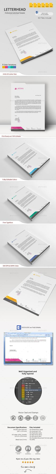 Letterhead Bundle Letterhead design, Templates and Design - company letterhead word template