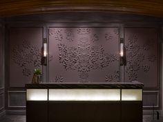 Gorgeous cut felt floral design in bas relief—St. Regis Hotel, Aspen❣ Helen Amy Murray • photographer, Eric Laignel