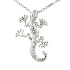 18k Diamond Gecko Pendant from Borsheims