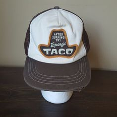 After Surfing Try Topanga Taco Trucker Hat Mesh Snapback Adjustable Distressed #TopangaTaco #Trucker