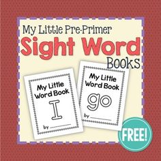 Dolch pre-primer sight word emergent readers for preschool, pre-k, and kindergarten classrooms. Learn the word I and go with this book. This set of books is school-themed.Little sight word books are simple, uncluttered, and are PERFECT for young children Preschool Sight Words, Pre Primer Sight Words, Teaching Sight Words, Dolch Sight Words, Sight Word Practice, Sight Word Activities, Phonics Activities, Kindergarten Reading, Kindergarten Classroom