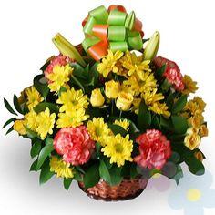 Canasto de Flores Dulce Amanecer