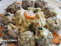 Τεμπέλικοι Λαχανοντολμάδες Cookbook Recipes, Cooking Recipes, Greek Recipes, Potato Salad, Mashed Potatoes, Lamb, Recipies, Beef, Meals