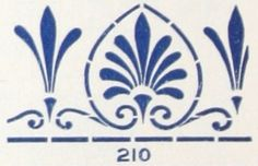Laurelhurst Craftsman Bungalow: Reproduction Stencils. Design from Sherwin Williams stencil catalog, c. 1910. Blog post includes information where you can still buy it.