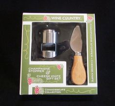 Champagne Cork And Cheese Knife Gift Set Champagne Bottle Stopper With Cheese Knife Bar Set