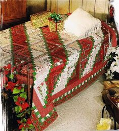 Christmas Quilt Patterns | Christmas Log Cabin Creative Scrap Quilt Pattern Leaflet - Heartland ...