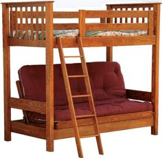 Youth loft bed with futon..