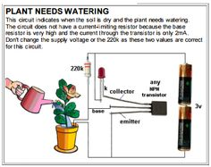 Discovery Tab: PLANT NEEDS WATERINGThis circuit indicates when t...