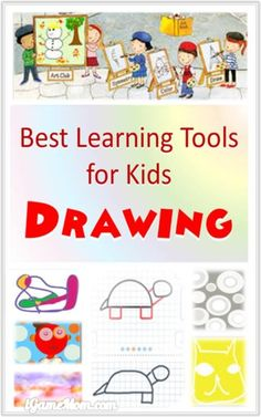 Best drawing and painting learning tools for kids, from learning to draw lines and shapes, to step-by-step guide of daily objects, to color blend, to color effects and drawing techniques | art teaching resource | turorial