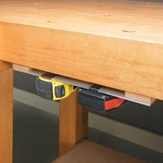 Tape measurer storage.