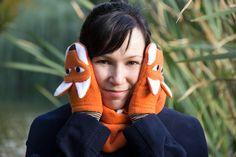 fox mittens - pattern & tutorial