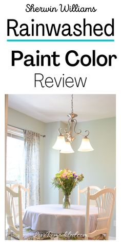 Looking for a bright yet sophisticated blue-green paint color? Rainwashed is a great choice! Find out everything you need to know about this Sherwin Williams paint color here!