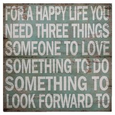 Found it at Joss & Main - For a Happy Life Wall Decor