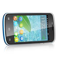 4 '' Cubot GT95 Desbloqueado 3G Smartphone - Android 4.2 MTK6572 Dual Core dual del teléfono móvil 4G ROM Dual SIM Standby teléfono móvil Bluetooth Moblie Teléfono móvil (Blanco)