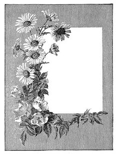 Antique Images: Scrapbooking Summer Digital Summer Flower Frame Clip Art