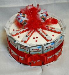 kinder chocolate joy kinder bar kinder surprise egg cake tower candy gift idea basket box valentines day birthday wedding present romantic romance love