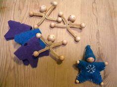 10 Waldorf Winter Crafts to make your kids happy - Weihnachten Handwerk Kids Crafts, Winter Crafts For Kids, Felt Crafts, Craft Projects, Kids Diy, Decor Crafts, Toddler Crafts, Clay Crafts, Craft Ideas