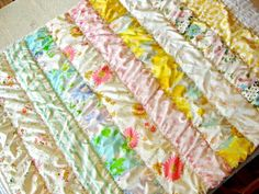 Vintage Sheet Quilt... So need to do this with my massive stash of VS