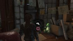 "One of the Easter eggs in the 'Blood Ties"" DLC is this cuddly dinosaur toy. A nod to Lara's encounters with dinosaurs in earlier Tomb Raider games?"