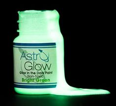 Glow in the Dark Paint - Premium - Light Green - .54 Fl Oz - Dries Nearly Invisible - Extremely Bright- Money Back Guarantee - Long Lasting Glow