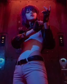 Shirogane-sama Motoko Kusanagi Ghost in the Shell Anime Cosplay Anime Cyberpunk Girl, Cyberpunk Character, Best Cosplay, Anime Cosplay, Anime Ghost, Shell Tattoos, Masamune Shirow, Motoko Kusanagi, Anatomy Poses
