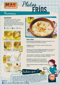 ¿Conocéis el hummus? Una crema de garbanzos ideal como entrante    #recetas #inforecetas #infografias