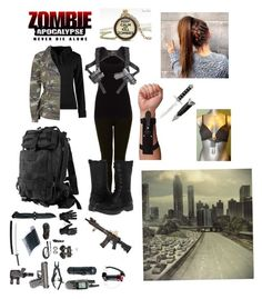 """Zombie Apocalypse? No Problem, I'm Ready"" by dancer2014 ❤ liked on Polyvore featuring beauty, Lab, Topshop, Lucas Hugh, Jigsaw, Urban Classics, BC Footwear and 5.11 Tactical"