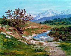 Walk to the river  9.4 x 7.5 24 x 19 cm от TatianaZappaArt на Etsy